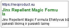 Jinx Repellent Magic Formula